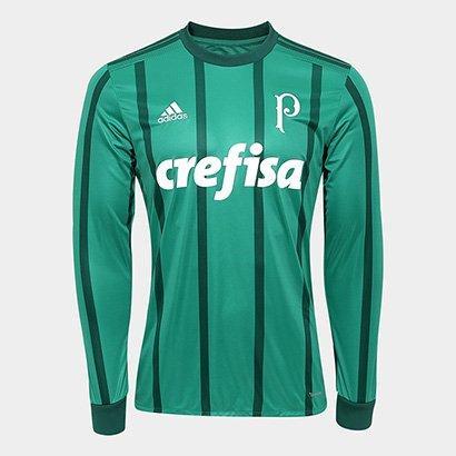 Camisa Palmeiras I 17/18 Manga Longa s/nº - Torcedor Adidas Masculina