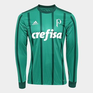 Camisa Palmeiras I 17 18 Manga Longa s nº - Torcedor Adidas Masculina e41728fff80b4