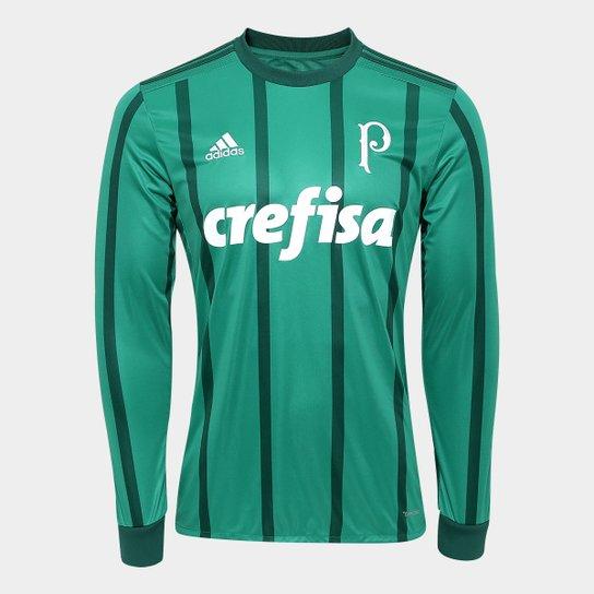 Camisa Palmeiras I 17 18 Manga Longa s nº - Torcedor Adidas Masculina - 3fcc83fb961f4
