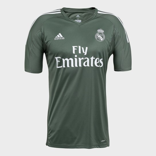 Camisa Real Madrid Goleiro 17 18 - Torcedor Adidas Masculina - Musgo ... bc8ca8a52f968