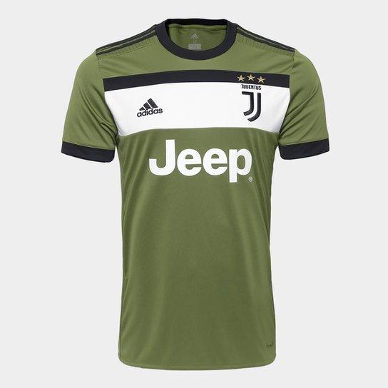 Camisa Juventus Third 17 18 - S N Torcedor Adidas Masculina - Verde Militar e6fb1ba13e98c
