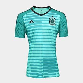 Camisa Seleção Espanha Goleiro Home 17 18 s n° - Torcedor Adidas Masculina 3dd4c352608fb