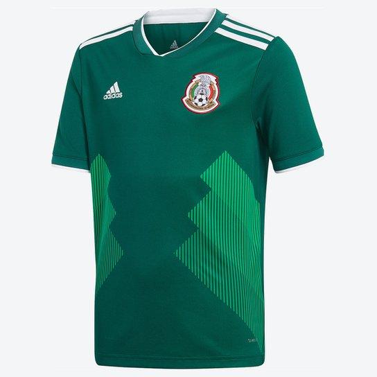 Camisa Seleção México Infantil Home 2018 s n° Torcedor Adidas - Verde c9fc78777262b