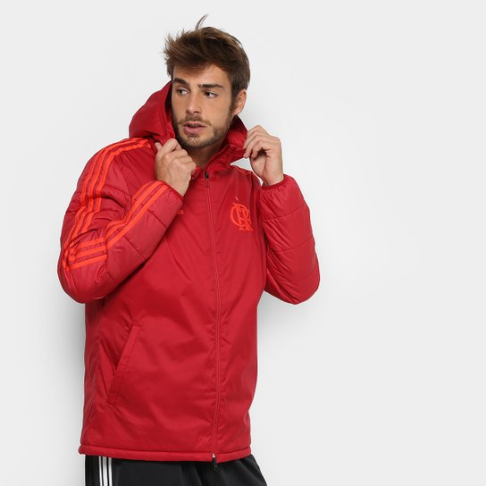 fd0534ea2f Jaqueta Flamengo Pesada C  Capuz Adidas Masculina - Vermelho ...