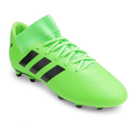 c249b31459 Chuteira Campo Infantil Adidas Nemeziz Messi 18 3 FG - Verde e Preto ...