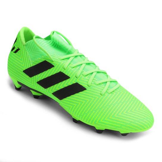659e2866f5 Chuteira Campo Adidas Nemeziz Messi 18 3 FG - Verde e Preto - Compre ...