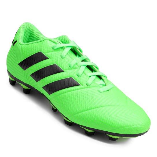 8eb35a8c44ce Chuteira Campo Adidas Nemeziz Messi 18 4 FG - Verde e Preto - Compre ...