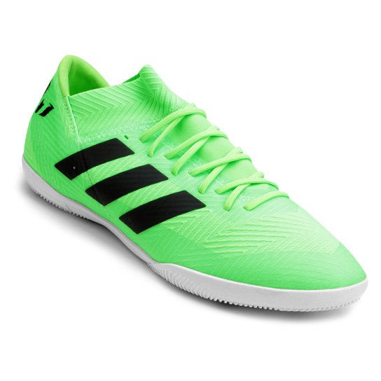 d128b1fb1ecb7 Chuteira Futsal Adidas Nemeziz Messi Tan 18 3 IN - Verde e Preto ...