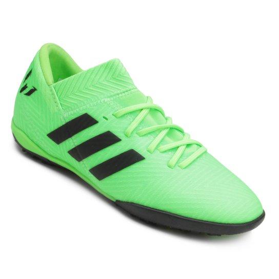 0552560a52023 Chuteira Society Infantil Adidas Nemeziz Messi 18 3 TF - Verde+Preto