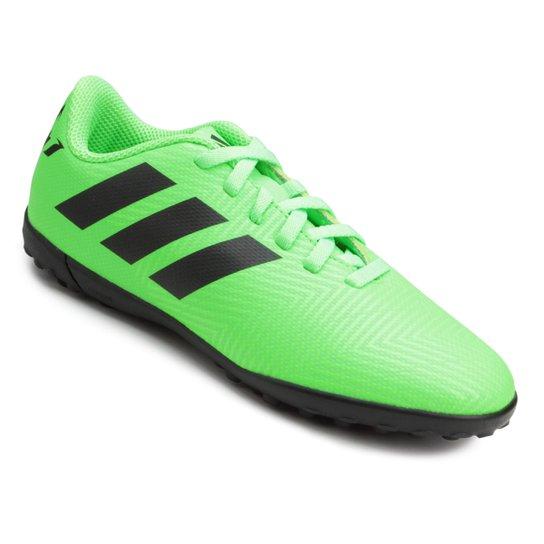 5e9b627a23 Chuteira Society Infantil Adidas Nemeziz Messi 18 4 TF - Verde e ...