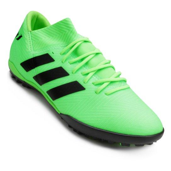 Chuteira Society Adidas Nemeziz Messi Tan 18 3 TF - Verde e Preto ... b1d8007fc5888