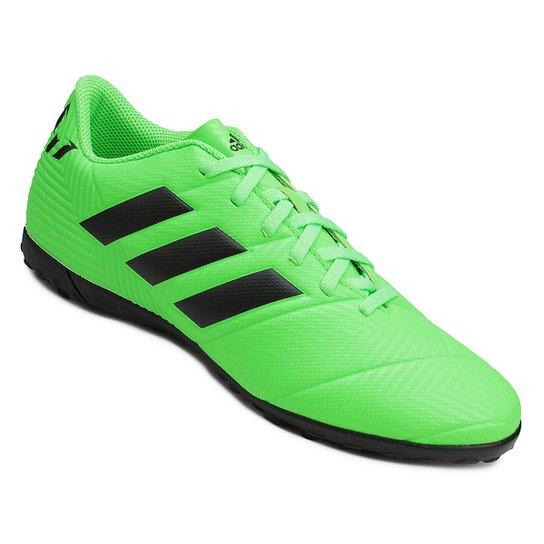 2b06a9b019c Chuteira Society Adidas Nemeziz Messi Tan 18 4 TF - Verde e Preto ...