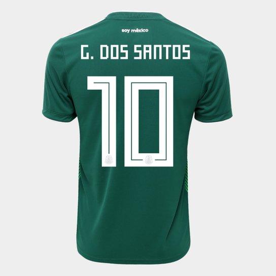 Camisa Seleção México Home 2018 n° 10 G. dos Santos - Torcedor Adidas  Masculina 52f88321780bb