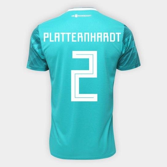 Camisa Seleção Alemanha Away 2018 n° 2 Plattenhardt - Torcedor Adidas  Masculina - Verde eeca54df94958