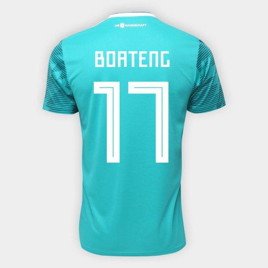 d91a93a2dd4d4 Camisa Seleção Alemanha Away 2018 n° 17 Boateng - Torcedor Adidas Masculina  - Verde
