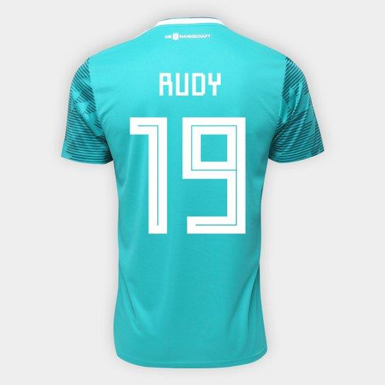 19e16075be Camisa Seleção Alemanha Away 2018 n° 19 Rudy - Torcedor Adidas Masculina -  Verde