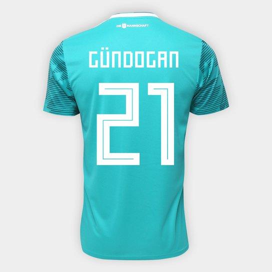 778df5eba1 Camisa Seleção Alemanha Away 2018 n° 21 Gündogan - Torcedor Adidas Masculina  - Verde