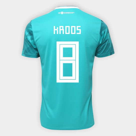 Camisa Seleção Alemanha Away 2018 n° 8 Kroos - Torcedor Adidas Masculina -  Verde b7d3db477fda6