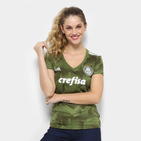 4a04c4e2a Camisa Palmeiras III 2018 s n° - Torcedor Adidas Feminina - Verde ...