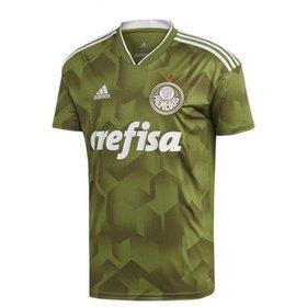 Camisa Palmeiras II 17 18 nº 3 Edu Dracena Torcedor Adidas Masculina ... 21e00e5089ffc