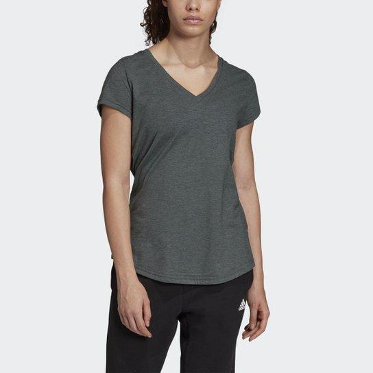 d1134ed668798 Camiseta Adidas ID Winners com Gola em V Feminina - Verde - Compre ...