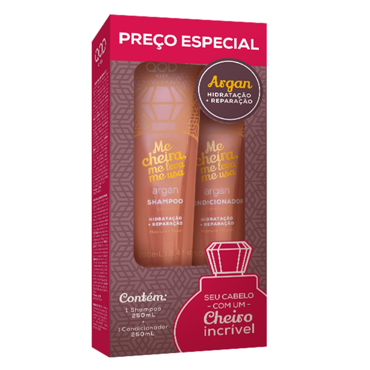 Kit QOD New City Argan Me Cheira Me Leva Me Usa 510g