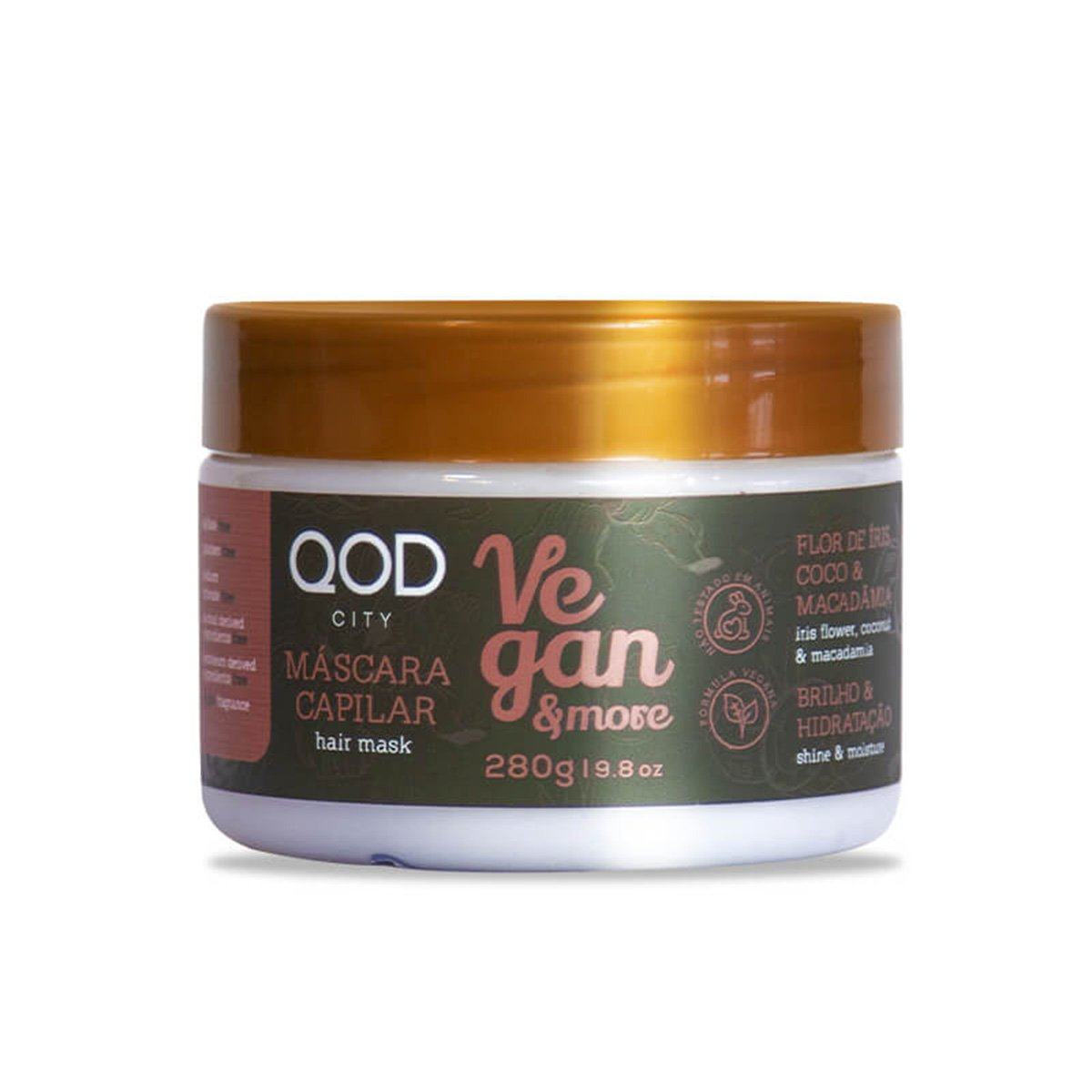 Máscara de Tratamento QOD City Vegan & More 280G