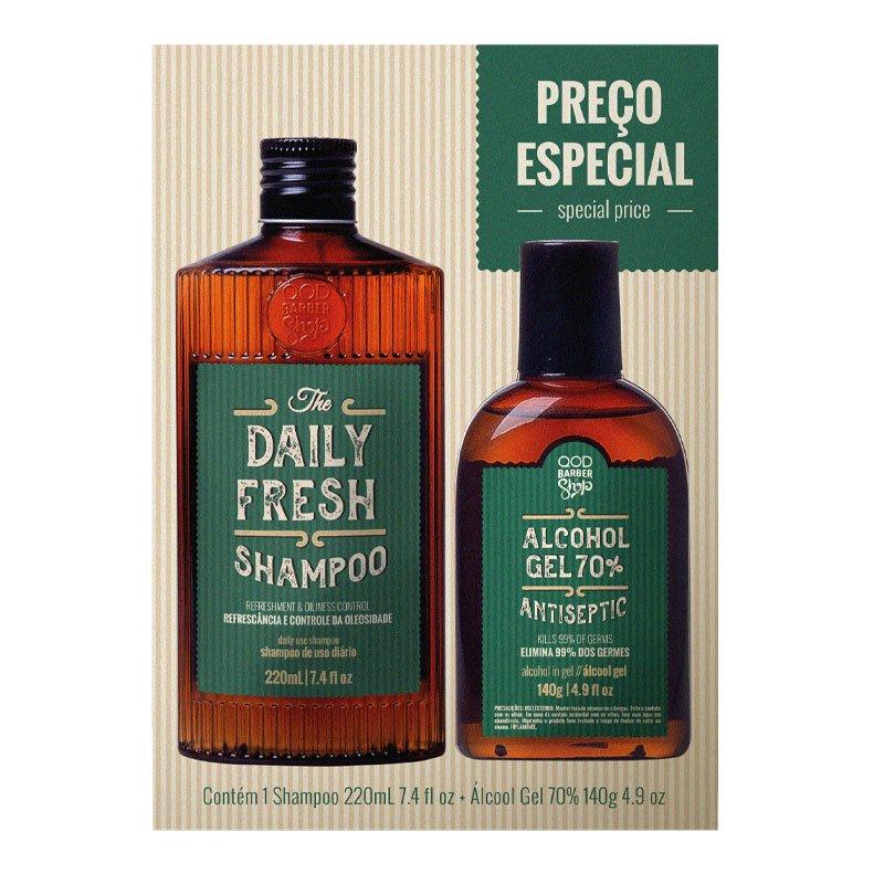 Kit QOD Higiene Shampoo +Álcool em Gel 220ML