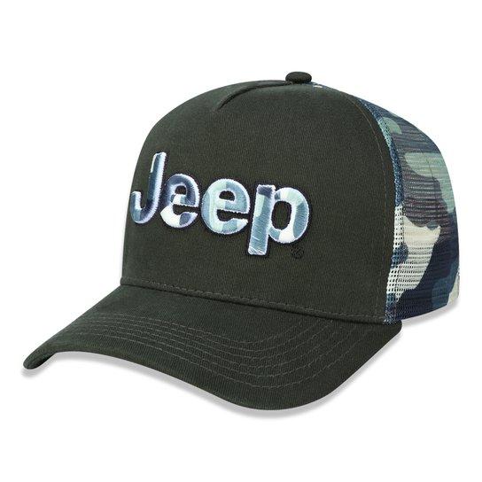 5ae2da6839b48 Boné Jeep Trucker Militar - Verde - Compre Agora