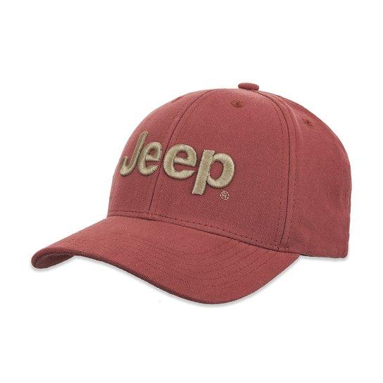 Boné Jeep Clássico - Vermelho Claro - Compre Agora  3aeae50b831