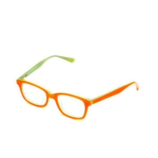 c165ba4597fb3 Armação de óculos Infantil Thomaston - Laranja e Verde - Compre ...