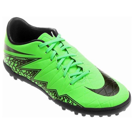 best service 275a2 a92e8 Chuteira Society Nike Hypervenom Phelon 2 TF - Verde+Preto