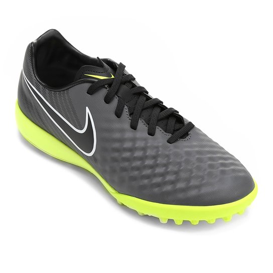 74e81150d6 Chuteira Society Nike Magista Onda II TF - Chumbo+Verde Limão
