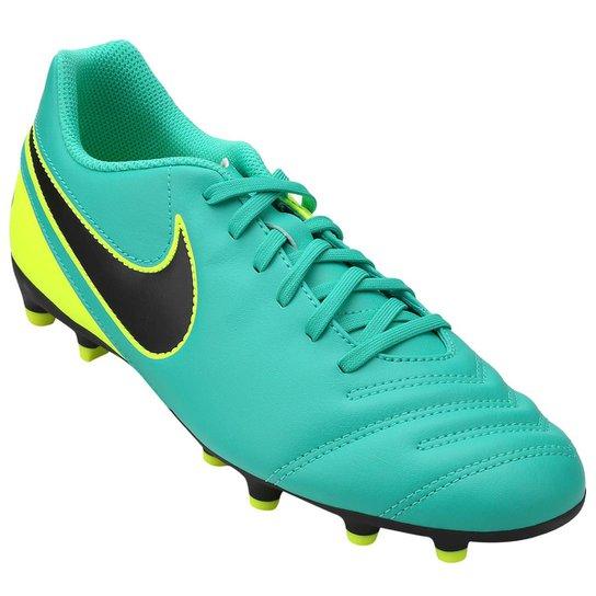 366fa3d9e4 Chuteira Campo Nike Tiempo 3 FG - Verde+Preto ...
