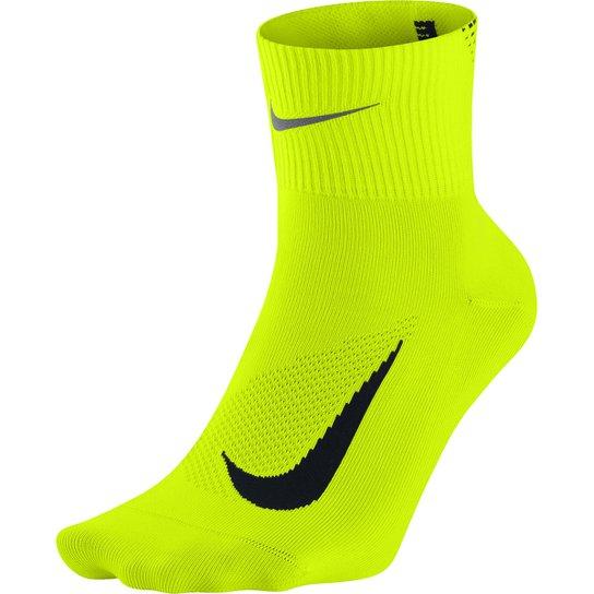 1ff4d78bd5 Meia Nike Elite Running Lightweight 2.0 - Verde Limão+Preto