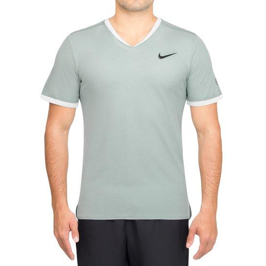 f0b41baafef Camiseta Nike Court Dry RF Top Verde-P - Compre Agora