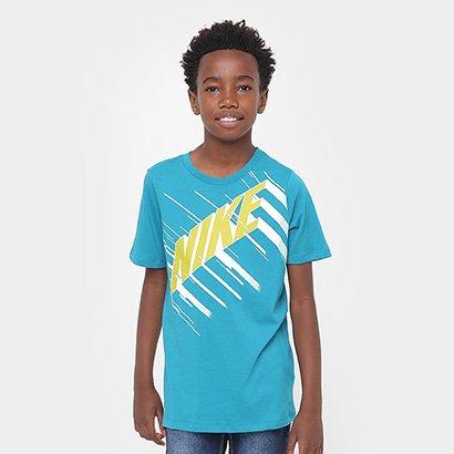 Camiseta Infantil Nike Dry Tee Df Speed Block Masculina