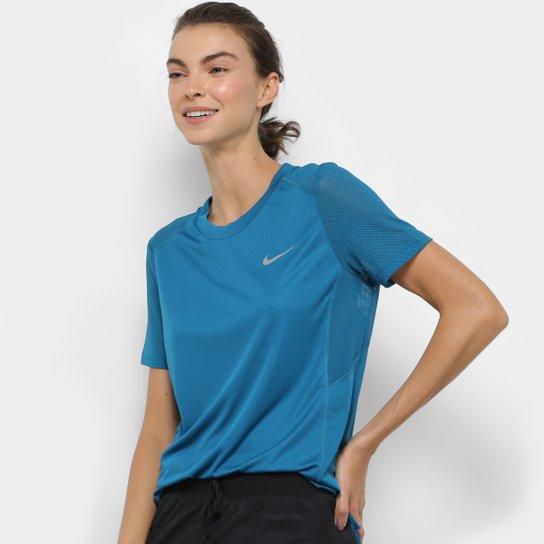 Camiseta Nike Miler SS Feminina - Verde - Compre Agora  462d6714de650