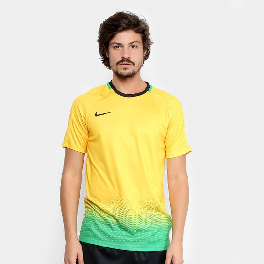 Camisa Nike Dry Academy Top SS GX Masculina - Verde - Compre Agora ... 4595f239ded11