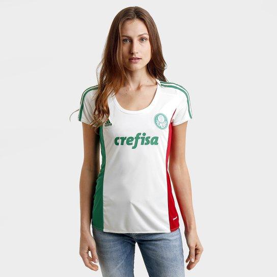 dcb454f607 Camisa Palmeiras II 15 16 s nº Torcedor Adidas Feminina - Branco+Verde