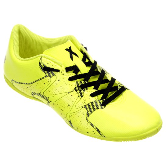 f83c9045ee Chuteira Futsal Adidas X 15 4 IN Masculina - Verde claro