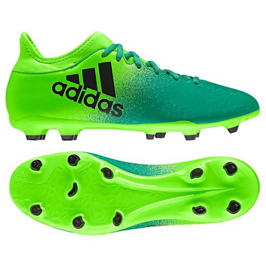 0b76b7617683f Chuteira Campo Adidas X 16.3 FG - Verde Claro+Verde