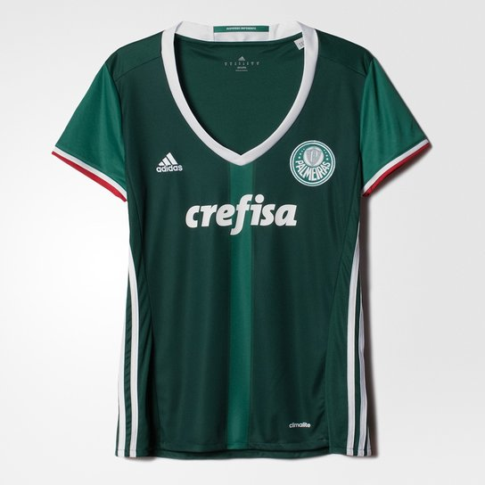 04b049a93a Camiseta Adidas Palmeiras I 2016 Feminina - Compre Agora
