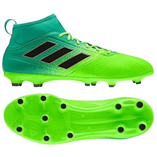 2cd5c6dd48 Chuteira Campo Adidas Ace 17.3 FG - Verde+Preto