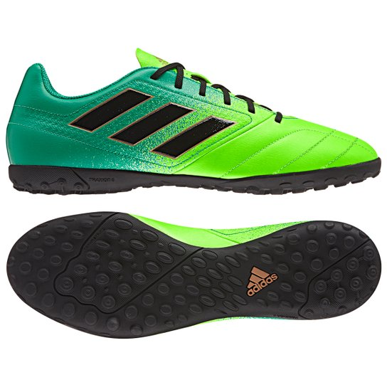 f0013c3ed5d86 Chuteira Society Adidas Ace 17.4 TF - Verde e Preto - Compre Agora ...