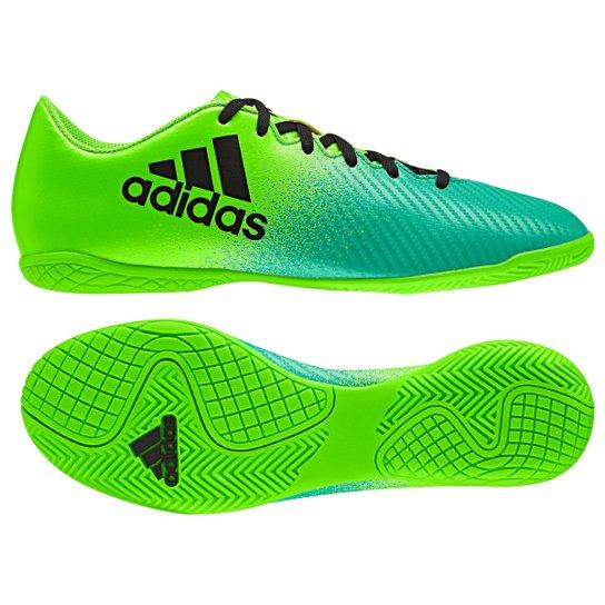 630d7cb530 Chuteira Futsal Adidas X 16.4 IN - Verde+Preto