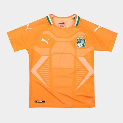 Camisa Costa do Marfim 2018 s/n° Puma Home Torcedor Infantil