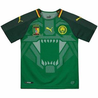 Camisa Puma Camarões Home 2018 Juvenil 8ad1f641812e4