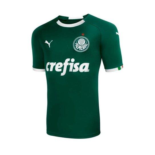 a09b79ccdecd5 Camisa Palmeiras I 19/20 s/n° - Torcedor Puma Masculina - Verde ...