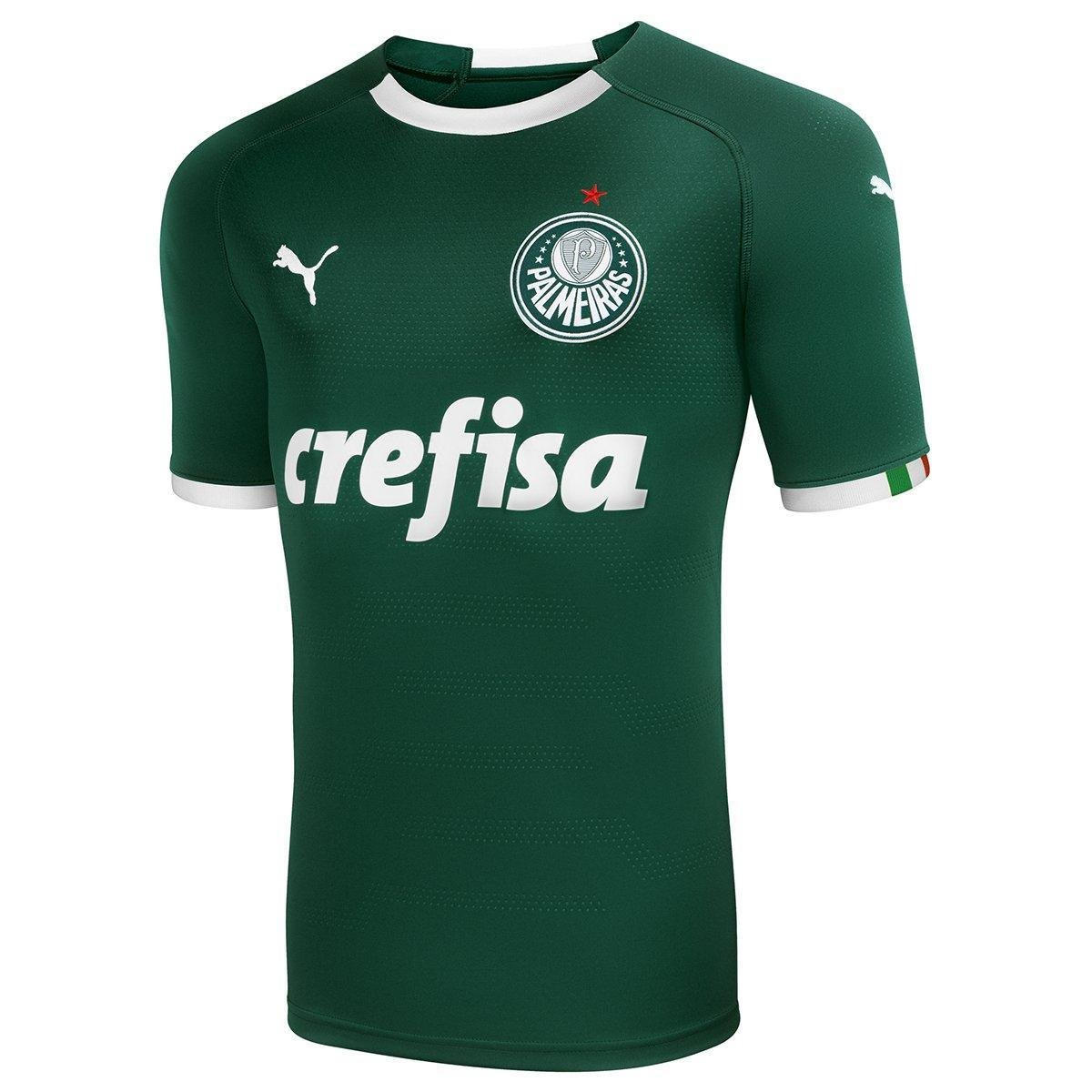 Camisa Palmeiras I 19/20 s/n° - Torcedor Puma Masculina - 3